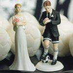 Futballista vőlegény, várakozó menyasszony