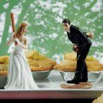 """""""Baseball"""" esküvői tortadísz"""