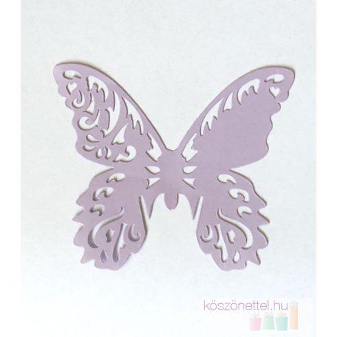 Lézervágott pillangó - levendula lila