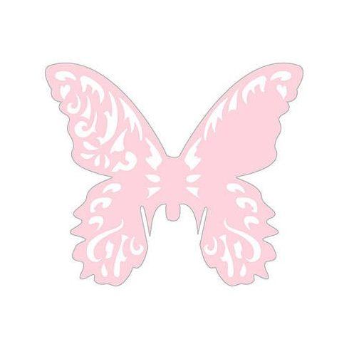 Lézervágott pillangó - rózsaszín