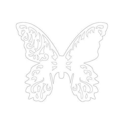 Lézervágott pillangó - fehér