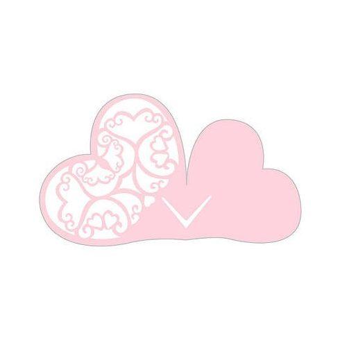 Lézervágott szív ültetőkártya -  rózsaszín (Utolsó 108 db raktáron!)