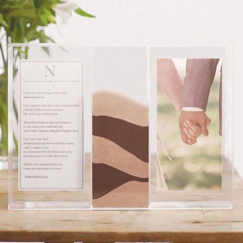 Tiszta szerelem - fényképes homoköntő akrildoboz