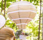 Légballon papír lampion készlet